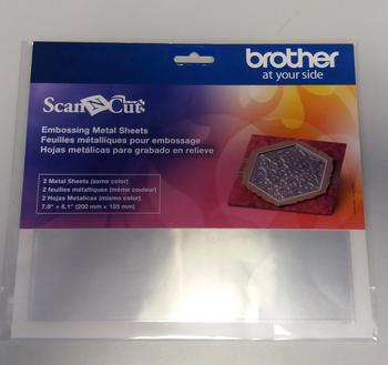 BROTHER Stříbrný kovový list pro embos (2 ks)