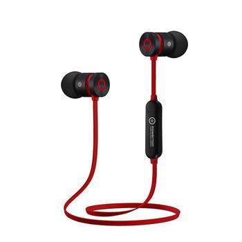 PowerTon sluchátka bezdrátová bluetooth red