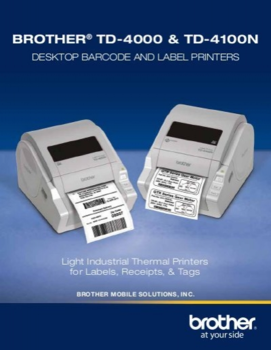 BROTHER TD-4100N + Power Banka 8000 - 4